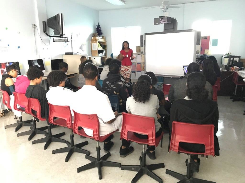 Two of HSM IP's Legal Assistants bring the Unreal Campaign to a school in the Cayman Islands!