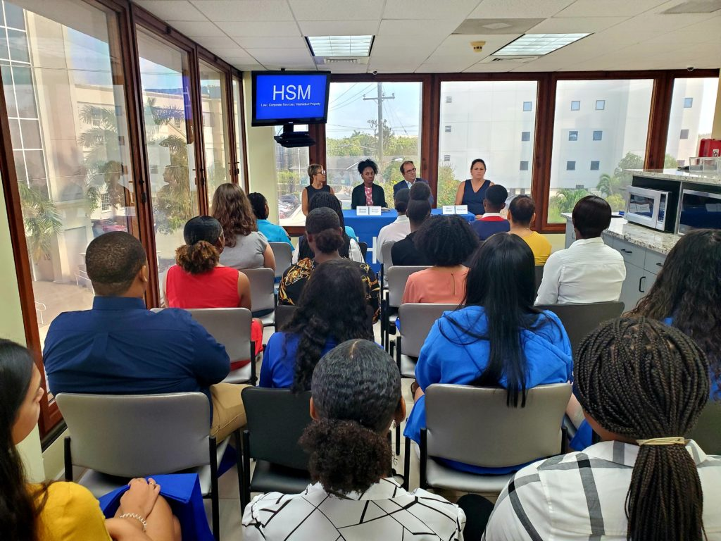 HSM staff give advice to Mentoring Cayman students